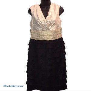 LONDON TIMES Layered/Ruffle Cocktail Dress~10~EUC